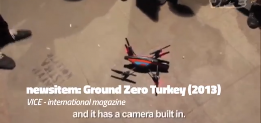 Screenshot of a drone used at Turkish protest