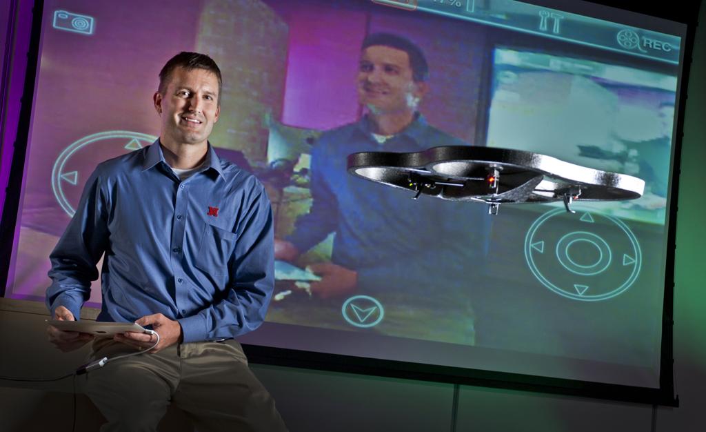 Drone professor Matt Waite