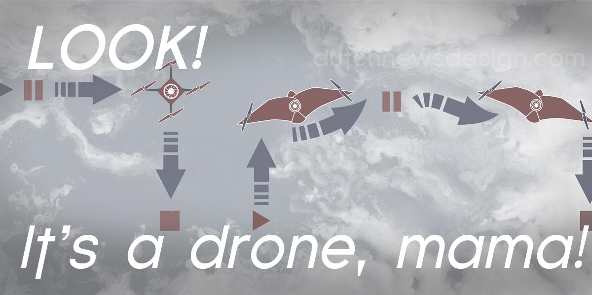 Look! It's a drone, mama - Dutch News Design